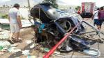 Así quedó uno de los vehículos del triple choque en Trujillo que provocó al menos 16 muertos y nueve heridos (Fotos: Johnny Aurazo).