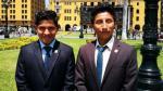 Hitler Alanya (Izquierda) y Rolly Pariona (derecha) hicieron realidad el sueño de estudiar en la Universidad Nacional Mayor de San Marcos. Ahora van a Harvard.(Andina)