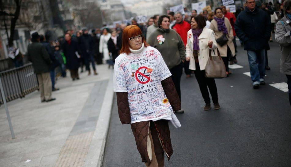 FOTOS: trabajadores en España marchan en contra las medidas de austeridad y privatización