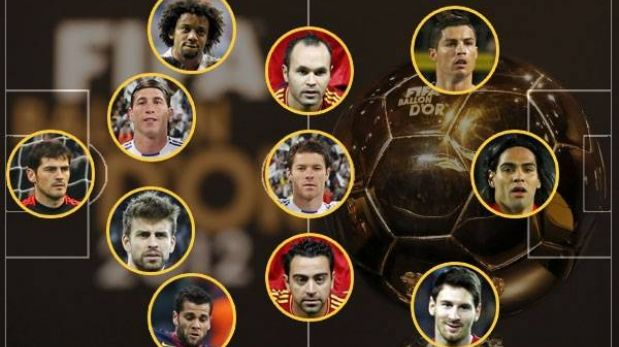 Este es el once ideal del 2012 para la FIFA: todos juegan en España