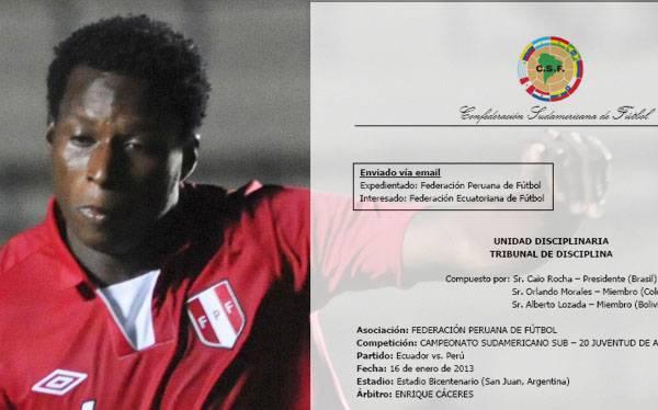 Conmebol no sancionará a la Sub 20 de Perú por caso Max Barrios