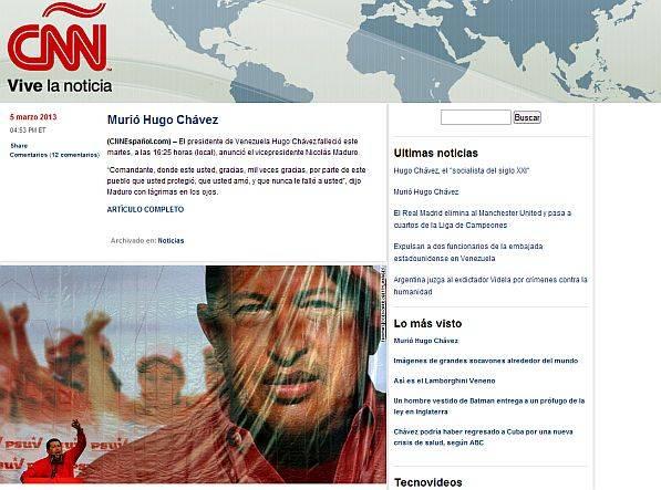 La muerte de Hugo Chávez vista por los principales medios del mundo