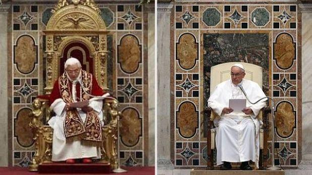 Papa Francisco cambió lujoso sillón dorado por uno de madera