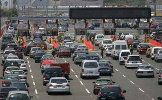 Hoy el tránsito en la Panamericana Sur será solo hacia el norte