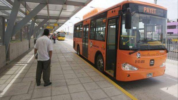 Buses alimentadores del Metropolitano operarán hasta medianoche