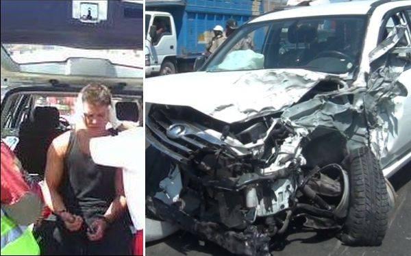 """Gino Pesaressi de """"Esto es guerra"""" sufrió accidente automovilístico"""