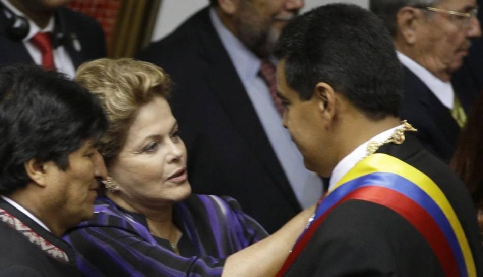 FOTOS: la juramentación de Nicolás Maduro como primer presidente chavista de Venezuela
