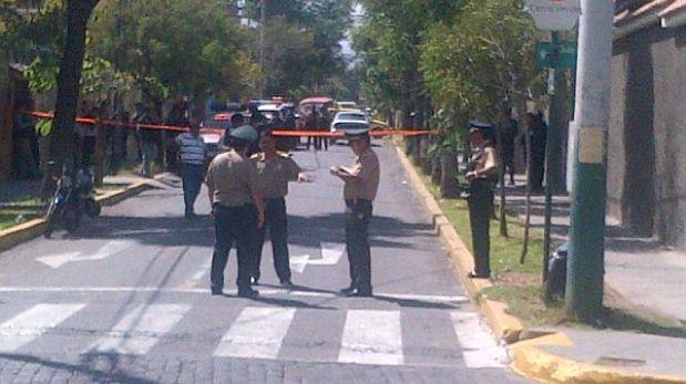 Arequipa: un muerto dejó una persecución policial tras robo frustrado