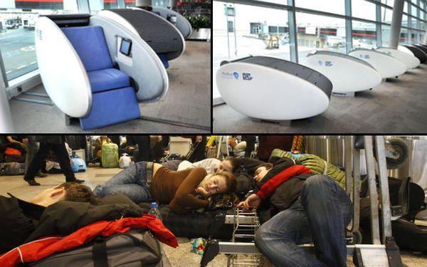Dulces sueños: esta cápsula te permite dormir y aislarte del ruido en los aeropuertos
