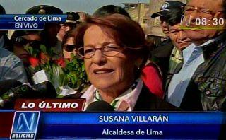 Villarán pasó el Día de la Madre junto a damnificados de incendio en Cercado de Lima