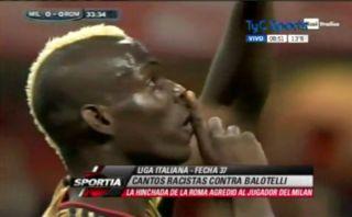 Club Roma fue sancionado con 50 mil euros por cantos racistas a Balotelli
