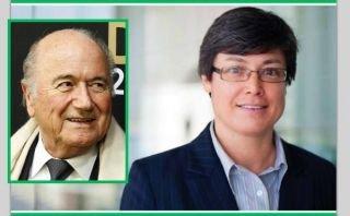 Blatter piropeó a candidata a puesto ejecutivo de la FIFA