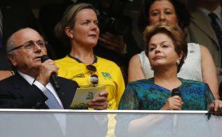 Copa Confederaciones: hinchada abucheó a Rousseff y Blatter pidió respeto