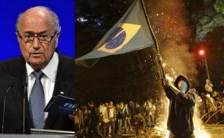 """Blatter ante violentas protestas: """"No impusimos a Brasil la Copa Mundial"""""""