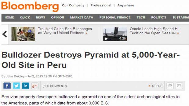 FOTOS: Destrucción de milenaria pirámide de El Paraíso fue noticia a nivel internacional