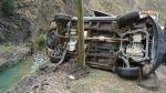 Pasco: tres muertos y 40 heridos dejó el despiste y vuelco de un bus - Noticias de edwin eulogio pantoja alfaro