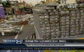 Cierre de vías auxiliares de Av. Brasil causa malestar entre conductores