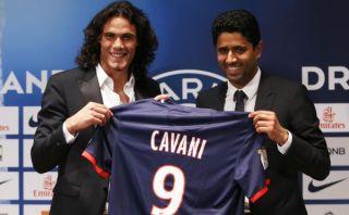 """Cavani fue presentado en PSG: """"Podemos ganar la Champions League"""""""