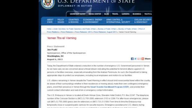 Estados Unidos y el Reino Unido piden a sus ciudadanos abandonar Yemen