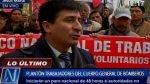 Bomberos respaldan a sus trabajadores administrativos y choferes en sus demandas salariales - Noticias de gonzalo lostaunau