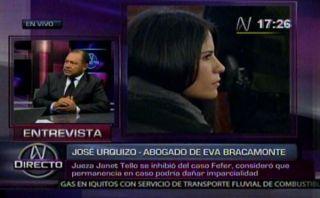 Abogado de Eva Bracamonte negó que recusación contra jueza dañe proceso