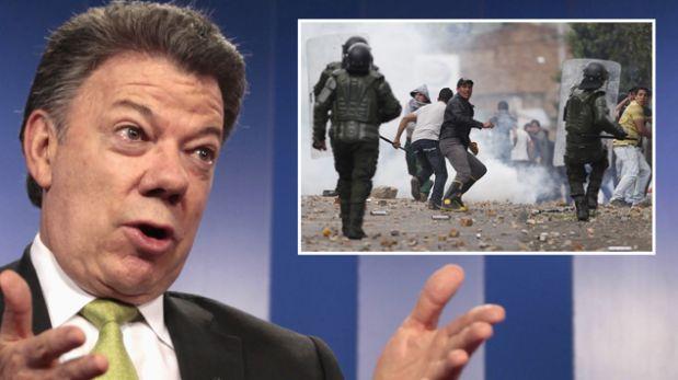 """El paro """"inexistente"""" que pone en aprietos al gobierno colombiano"""