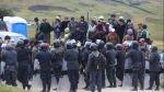 La policía liberó de manera pacífica la carretera Cajamarca-Bambamarca - Noticias de edy benavides