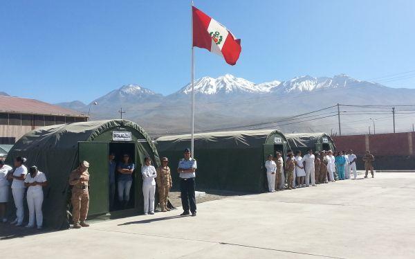Arequipa: hospital de campaña del Ejército atiende en el cono norte