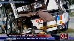 La Molina: choque entre bus lleno de pasajeros y un camión dejó 11 heridos - Noticias de luis tezza