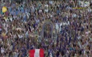 Papa Francisco saludó a imagen del Señor de los Milagros que llegó al Vaticano [VIDEO]