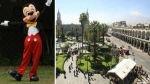 Polémica en Arequipa por homenaje a Mickey Mouse en la municipalidad - Noticias de rosario saldana rojas
