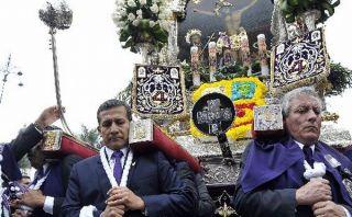 Presidente Humala y primer ministro cargaron anda del Señor de los Milagros