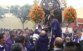 Cerca de 100 internos del penal ex San Jorge rindieron homenaje al Señor de los Milagros