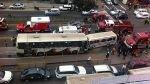 Breña: cinco heridos en triple choque en la avenida Brasil - Noticias de comandante celis