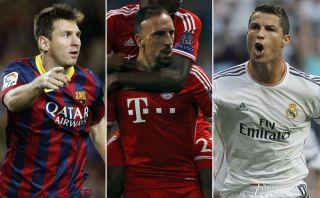 Lionel Messi, Cristiano Ronaldo y Ribéry encabezan lista para el Balón de Oro 2013