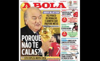 """Blatter ridiculizó a Cristiano Ronaldo"", dijo la prensa portuguesa sobre burlas del mandamás de la FIFA"