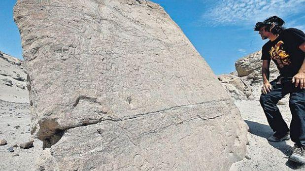 Ica: especialistas buscan conservar los petroglifos de Majuelos