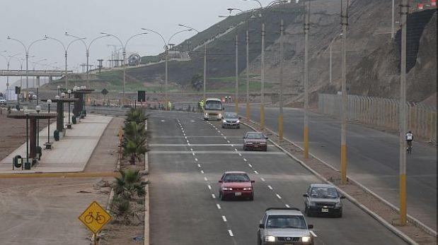 Un tramo de la Costa Verde permanece cerrado por Juegos Bolivarianos