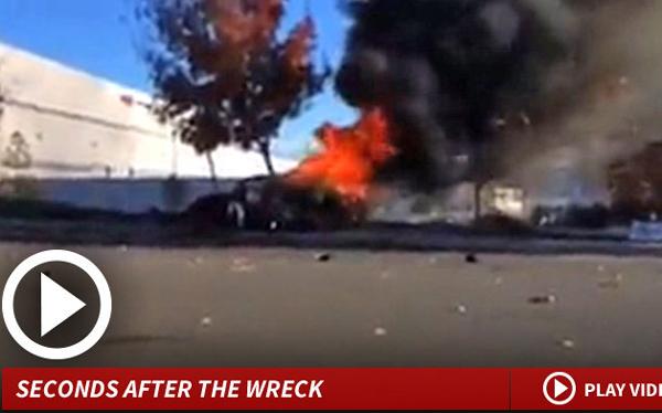 Paul Walker: 'paparazzis' grabaron auto incendiándose inmediatamente después del accidente [VIDEO]