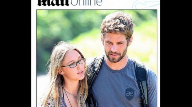 """Muerte de Paul Walker: novia está """"destrozada"""" por repentino deceso"""