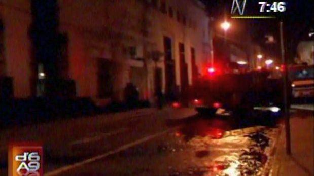 Incendio afectó sede del Banco de Crédito en Arequipa esta madrugada