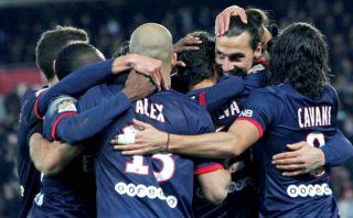 PSG goleó 5-0 con estas pinturas de goles de Cavani y Zlatan [VIDEO]