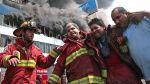 Incendio en La Victoria: bombero herido fue dado de alta de hospital Rebagliati - Noticias de diego jaime robles