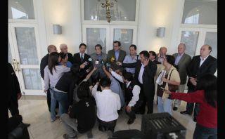 Representantes de partidos aseguran estar unidos esperando la sentencia de La Haya [Fotos]