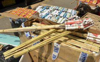 Más de 200 kilos de pirotécnicos ilegales fueron incautados en Pucusana