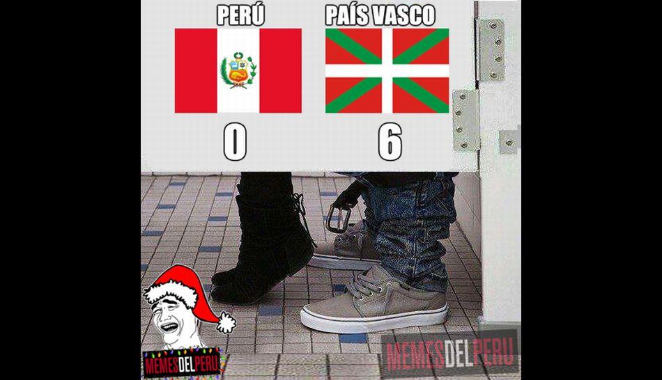 Vergonzosa derrota de Perú ante País Vasco generó burlas en las redes sociales [FOTOS]