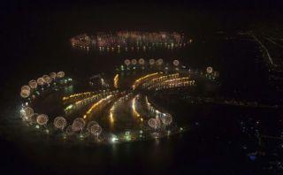 Dubái busca el récord Guinness de uso de fuegos artificiales