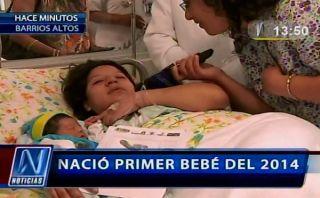 Primer bebe del 2014 nació con un peso de más de 4 kilos y midió 53 cm.