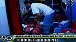 San Juan de Miraflores: mujer perdió parte del brazo en choque - Noticias de elba flor leon coba