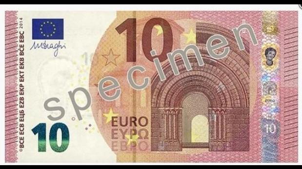 El nuevo billete tiene la figura de Europa en la banda de seguridad. (Foto: Banco Central Europeo)